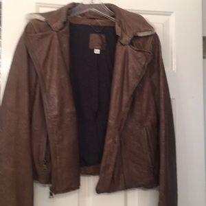 Banana Republic leather bomber jacket